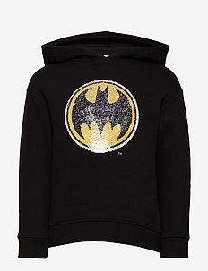 Reversible sequins superhero hoodie - BLACK