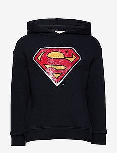 Reversible sequins superhero hoodie - NAVY