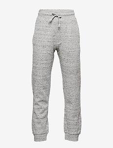 Cotton jogger-style trousers - MEDIUM GREY