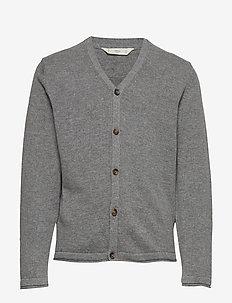 Button knit cardigan - MEDIUM GREY