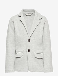 Structured textured blazer - MEDIUM GREY