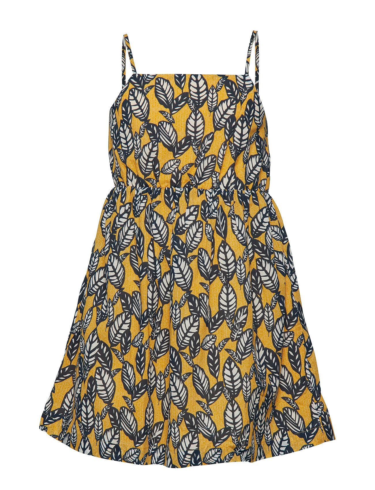 Mango Kids Leaf print dress