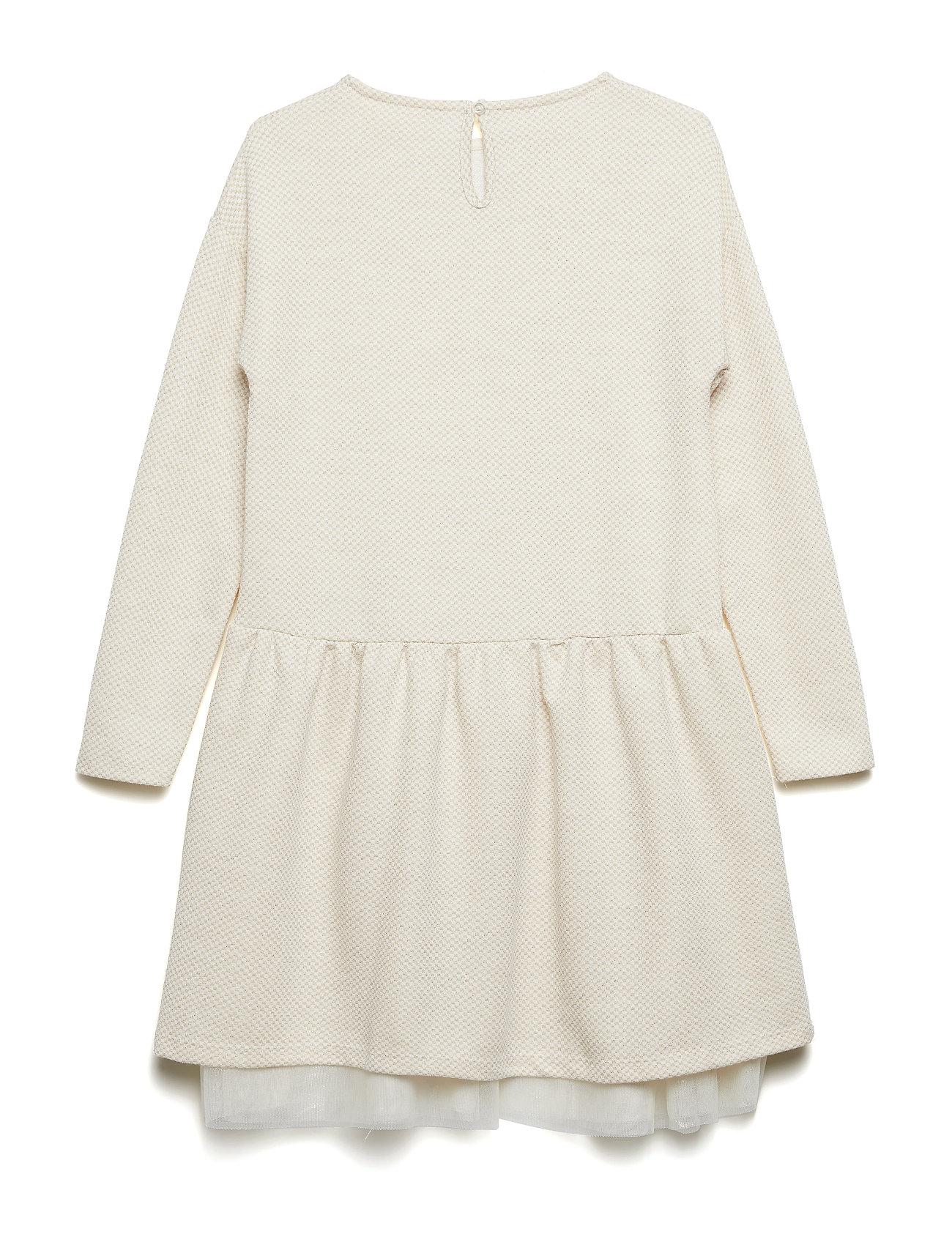 a710af6e2 Tulle Metallic Dress Kjole Creme MANGO KIDS