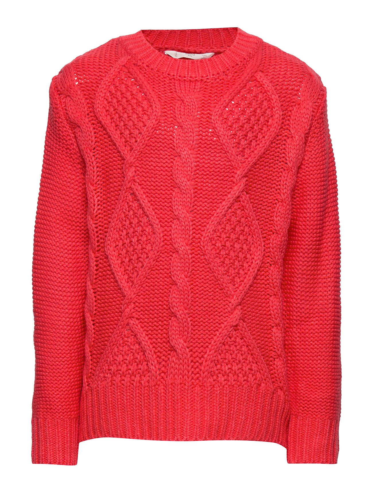 Mango Kids Cable-knit sweater - BRIGHT RED