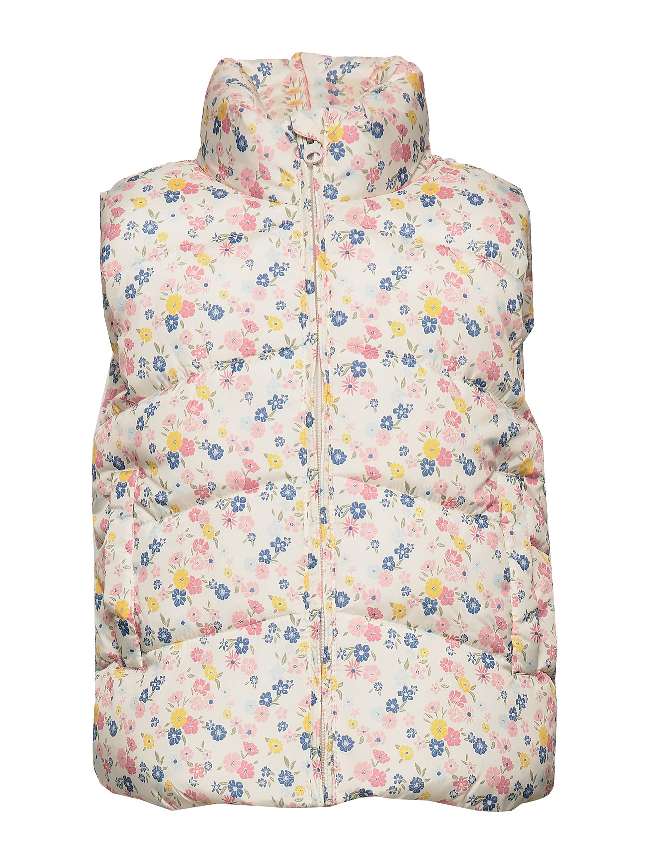 Mango Kids Printed quilted gilet - LIGHT BEIGE