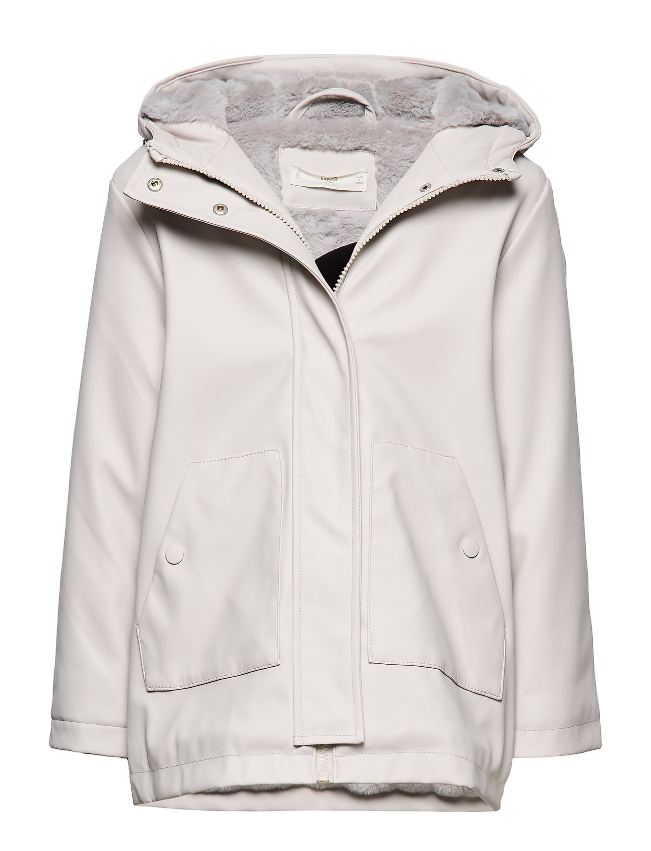 Mango Kids Raincoat hooded jacket - LT PASTEL GREY