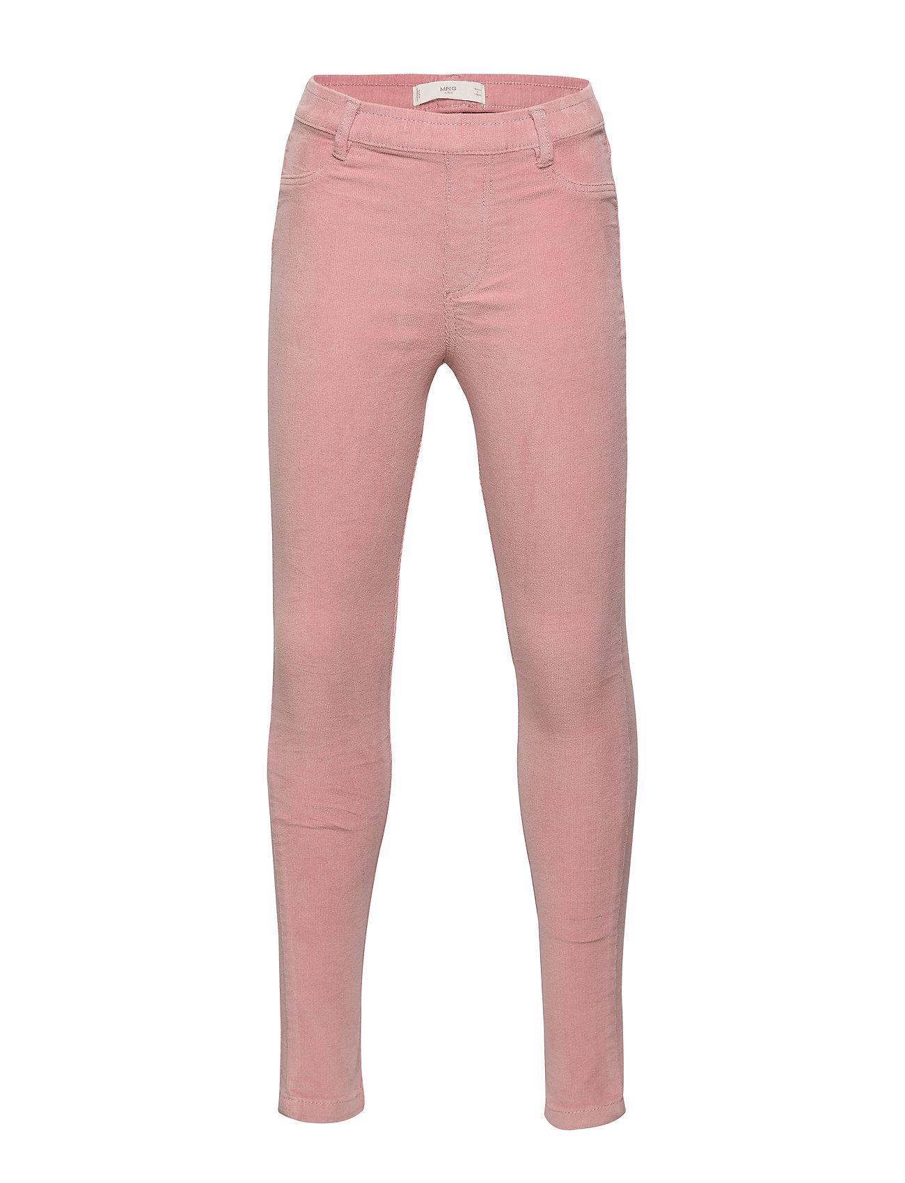 Mango Kids Slim-fit corduroy trousers - PINK