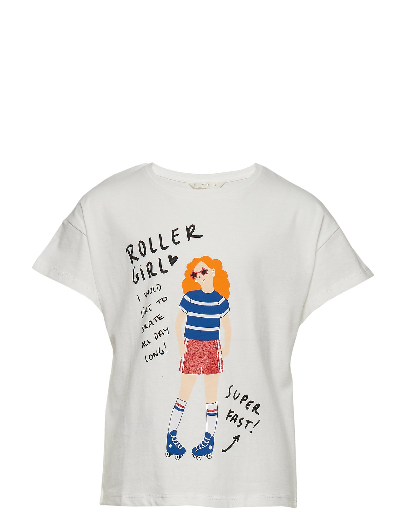 Printed Cotton T Shirt Mango Kids Kortærmede t shirts til
