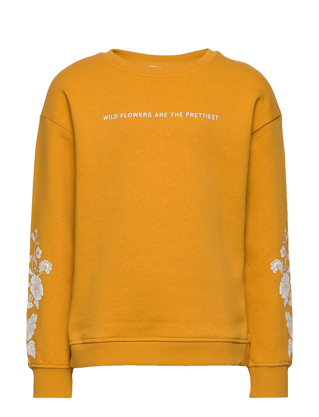 Mango Kids Printed cotton sweatshirt - MEDIUM YELLOW