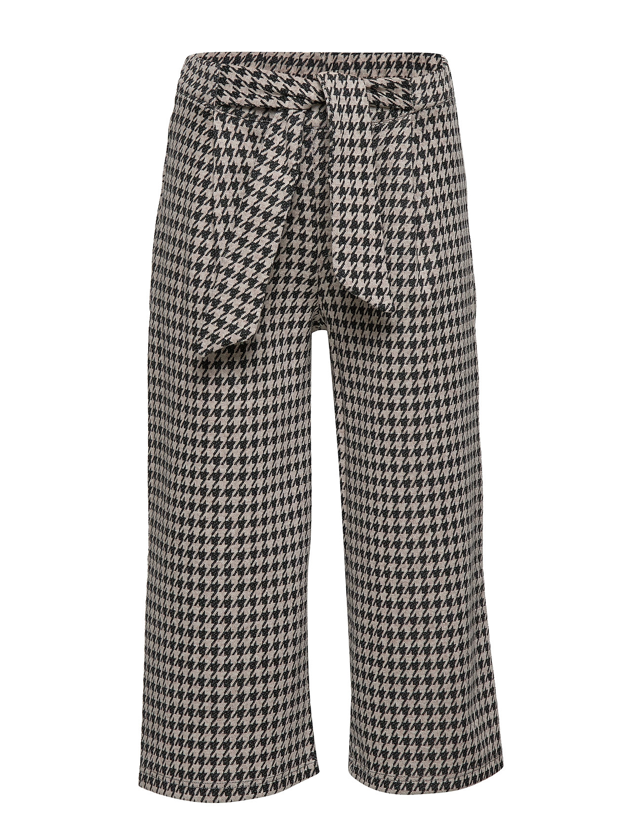 Mango Kids Houndstooth culotte trousers - CHARCOAL