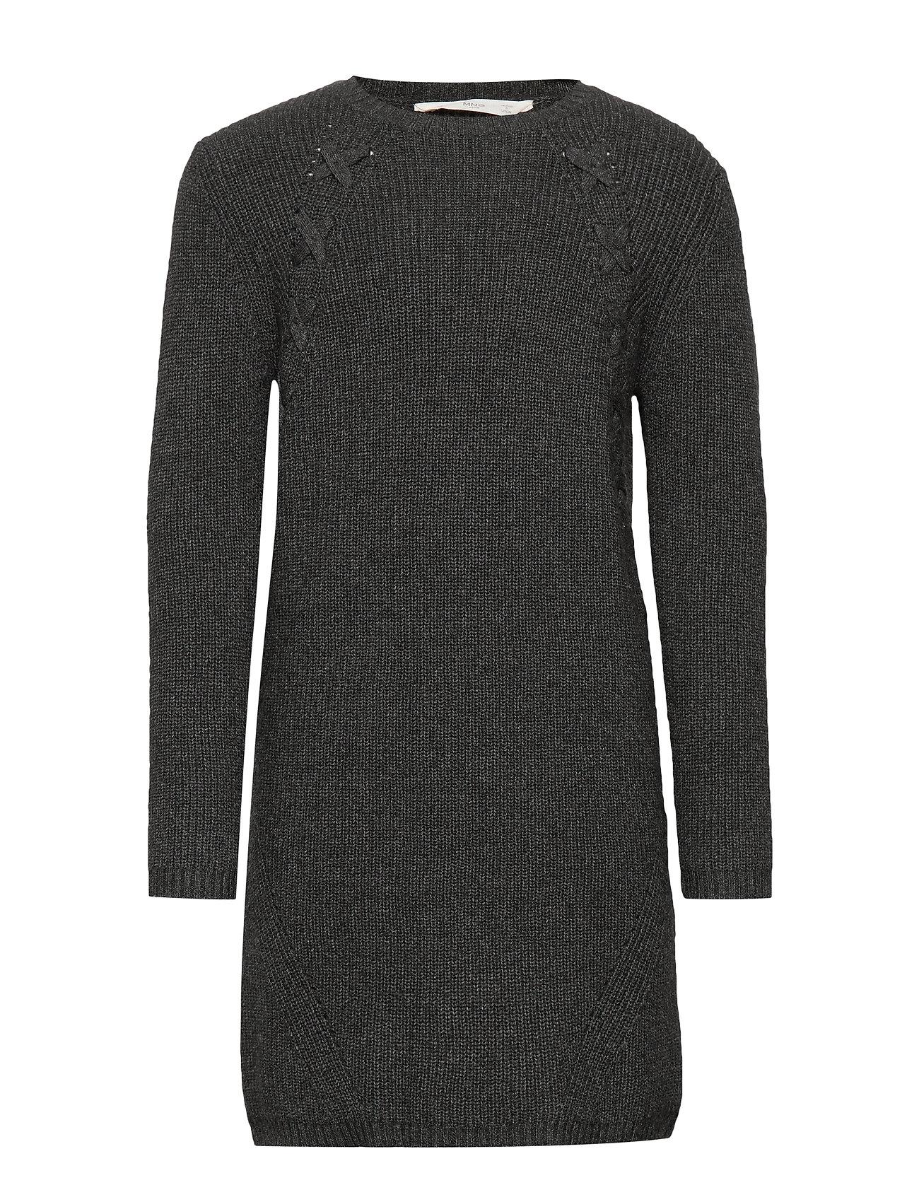 White knitdress from Mango   Strik kjole   Long knitted