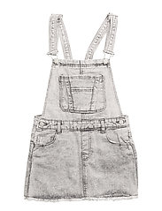 Grey denim pinafore dress - OPEN GREY