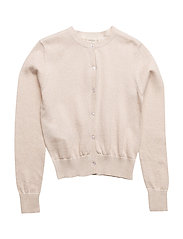 Metallic finish cardigan - LIGHT BEIGE