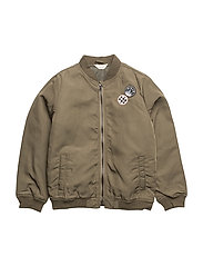 Patches bomber jacket - BEIGE - KHAKI