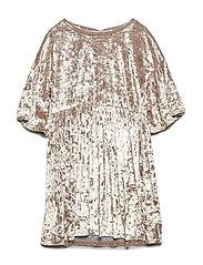 Rhinestones velvet dress - GOLD