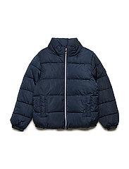 Quilted water-repellent coat - NAVY