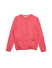 Pocket cotton cardigan - PINK