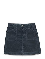 Velvet pocket skirt - DARK GREEN