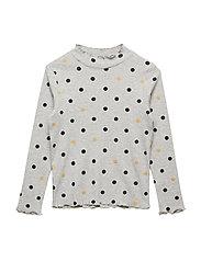 Ribbed polka dots t-shirt - MEDIUM GREY
