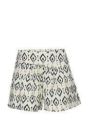 Printed Cotton-Blend Short Shorts Hvit MANGO KIDS