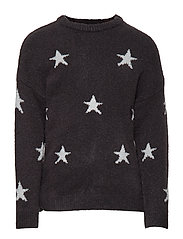 Stars knitted sweater - GREY