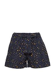 Printed Bow Shorts Shorts Blå MANGO KIDS