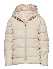 Hooded water-repellent coat - LT PASTEL GREY