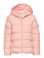 Hooded water-repellent coat - PINK