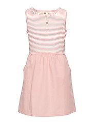 Striped contrast dress - PINK