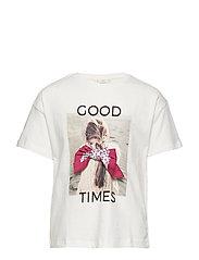 Message cotton t-shirt - NATURAL WHITE