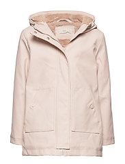 Raincoat hooded jacket - LT-PASTEL PINK
