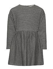 Printed cotton dress - MEDIUM GREY