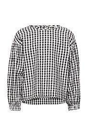 Textured check shirt - BLACK
