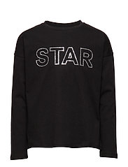 Sequined message t-shirt - BLACK