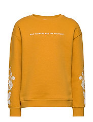 Printed cotton sweatshirt - MEDIUM YELLOW