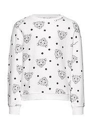Printed cotton sweatshirt - NATURAL WHITE