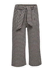 Houndstooth culotte trousers - CHARCOAL