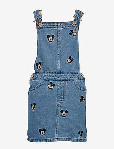 Mickey Mouse denim pinafore dress - OPEN BLUE