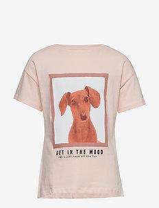 Cotton printed t-shirt - PINK