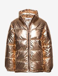 Metallic puffer jacket - GOLD