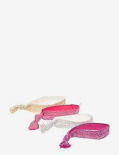 4 pack hair ties - PINK