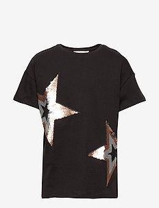 Reversible sequins t-shirt - CHARCOAL
