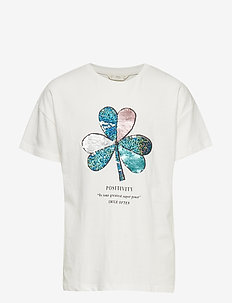 Reversible sequins t-shirt - NATURAL WHITE