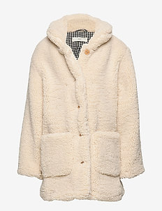 Faux shearling coat - NATURAL WHITE