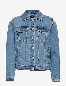 Pocketed denim jacket - OPEN BLUE