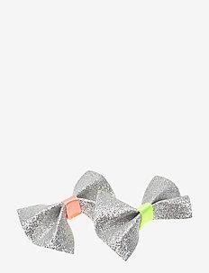 2 set glitter hairclips - BRIGHT YELLOW