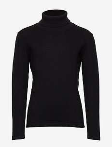 Turtleneck sweater - BLACK