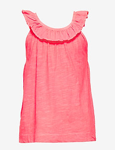 Ruffled cotton top - PINK