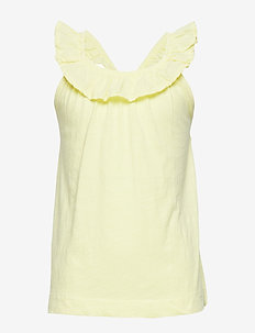 Ruffled cotton top - YELLOW