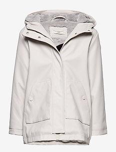 Raincoat hooded jacket - LT PASTEL GREY